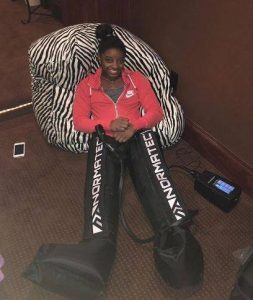 Simone-Biles-NormaTec-Recovery-Boots
